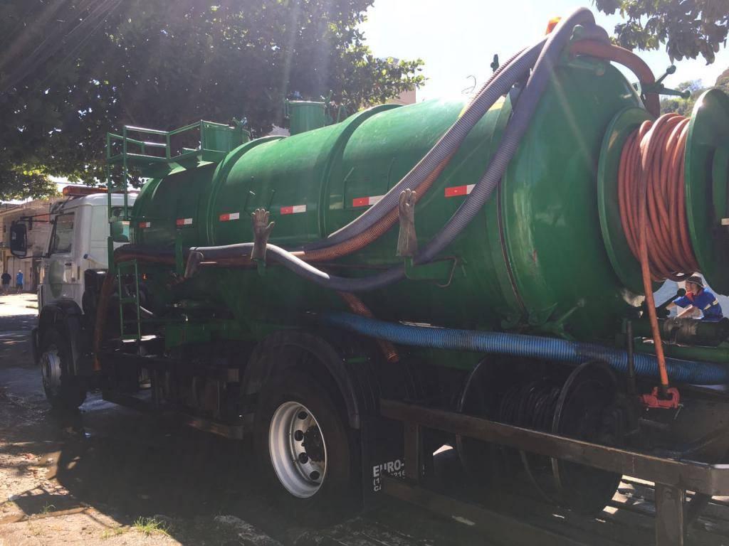caminhão sewer-jet